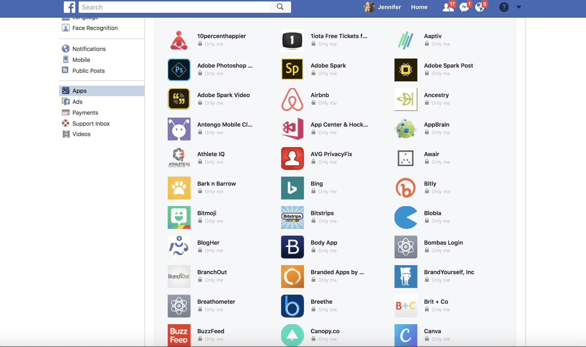 browse facebook apps